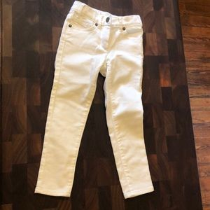 Crewcuts JCrew toddler girls white jeans sz. 5